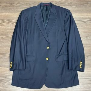 Samuelsohn Navy Blue Blazer 46L Long